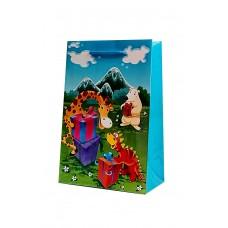Бумажный пакет 14х21х7 в ассортименте